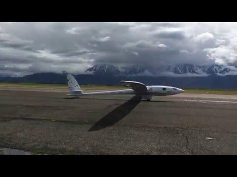 Perlan II Glider Test Flight Take-Off
