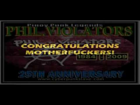 PHIL.VIOLATORS 'WE TAKE IT ALONG' STUDIO VERSION (25th ANNIVERSARY SLIDESHOW PART 2 )
