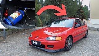 sobre rodas pt: Honda  coupe k20 + nitro