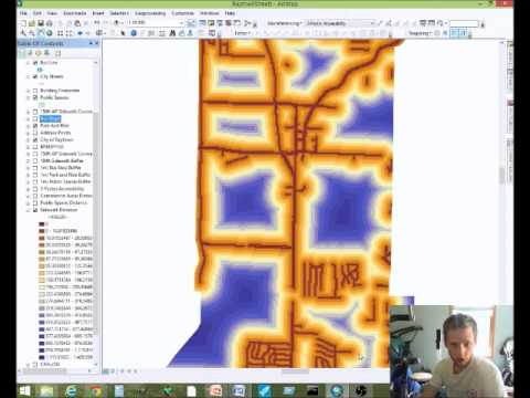 Raytown Accessibility Map -- ArcMap Distance Calcuations