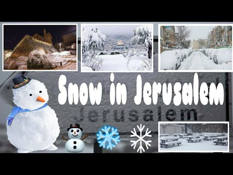 SNOW IN JERUSALEM ISRAEL || CRIS TV