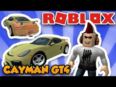 MY NEW SPORT CAR PORSCHE CAYMAN GT4 in ROBLOX VEHICLE SIMULATOR | DRAG RACES | CAR STUNTS