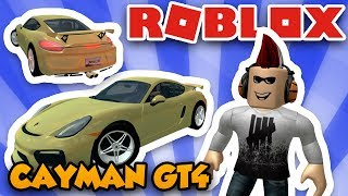 MY NEW SPORT CAR PORSCHE CAYMAN GT4 in ROBLOX VEHICLE SIMULATOR | DRAG RACES | CAR STUNTS