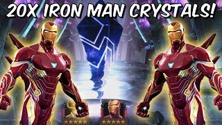 20x 5 Star Iron Man Infinity War Grandmaster Crystal Opening! - Marvel Contest Of Champions
