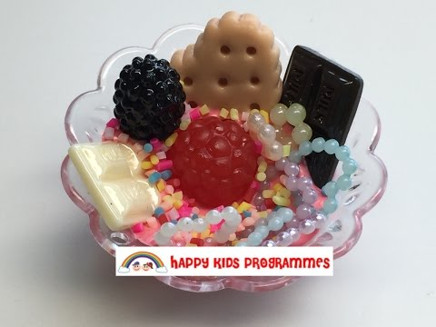 Happy Chef Kids cooking: Episode 4 Miniature DIY ice cream sundae *Daiso* part 1