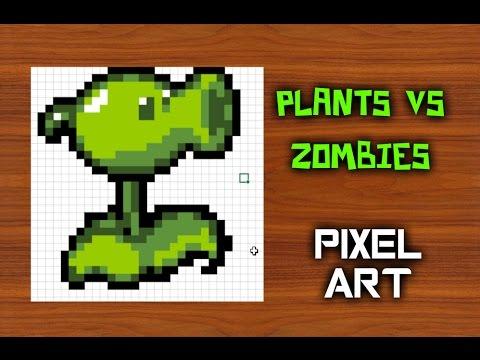 Como dibujar plants vs zombies para minecraft pixel for Como hacer la casa de plantas vs zombies en minecraft