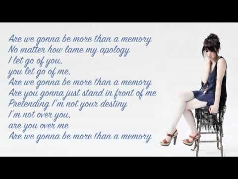 Carly Rae Jepsen - More Than A Memory:歌詞+中文翻譯
