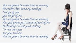Carly Rae Jepsen - More Than A Memory (lyrics video)