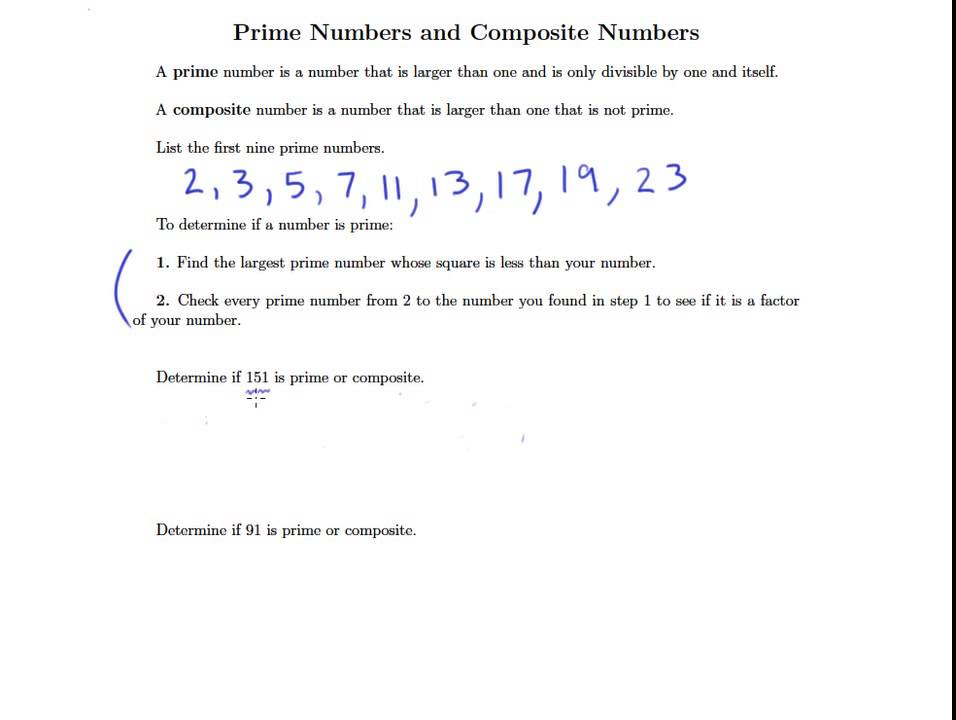 1 6b Prime and Composite Numbers