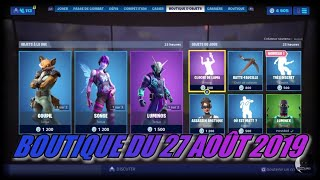 "Fortnite: Shop of August 27, 2019, New emote ""very discreet"", skins gopil, dream, luminos"