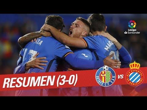 Resumen de Getafe CF vs RCD Espanyol (3-0)