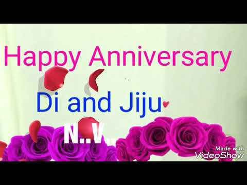 Happy wedding anniversary didi jiju enjoy your day di zizaji