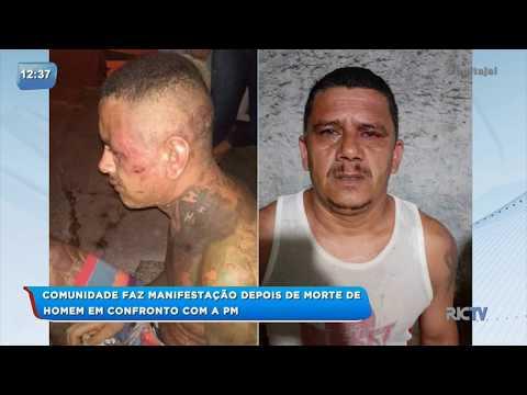 Moradores de Itajaí fazem manifestação após homem morrer em confronto com a PM