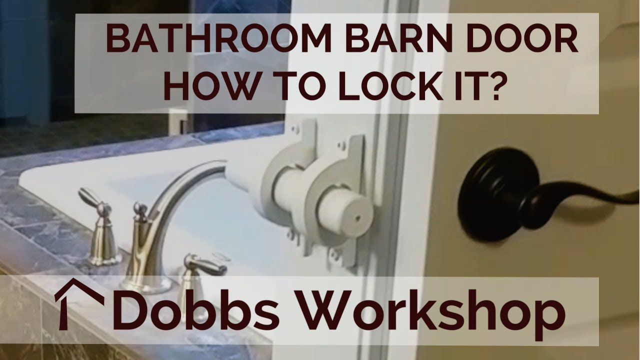 A lock for a bathroom barn door youtube - Installing a lock on a bedroom door ...