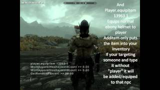 How to find most of skyrim's npc and item id's ( and some other useful commands)