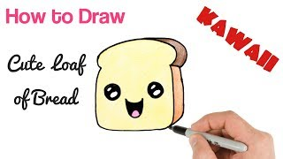 How to Draw Loaf of Bread step by step
