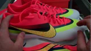 Nike mercurial vapor ix cr (white - total crimson - volt)