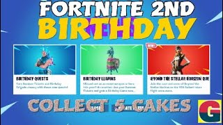 FORTNITE 2ND BIRTHDAY Quests collect 5 cakes