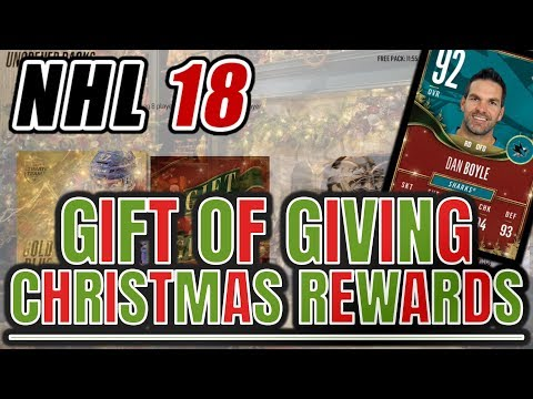 INSANE GIFT OF GIVING CHRISTMAS REWARDS PACKS!! CRAZY TEAM UPGRADES!! | NHL 18 HUT Pack Opening