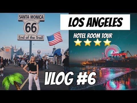 LOS ANGELES HOTEL TOUR + SANTA MONICA!!