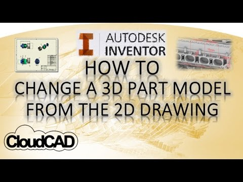 Edit a 3D part from the 2D drawing dimensions | Autodesk Inventor