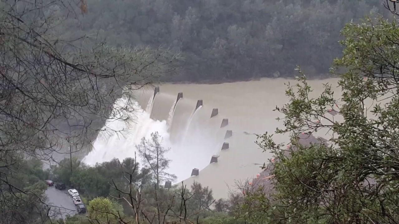 Flood Season on American River - Clementine Dam 1
