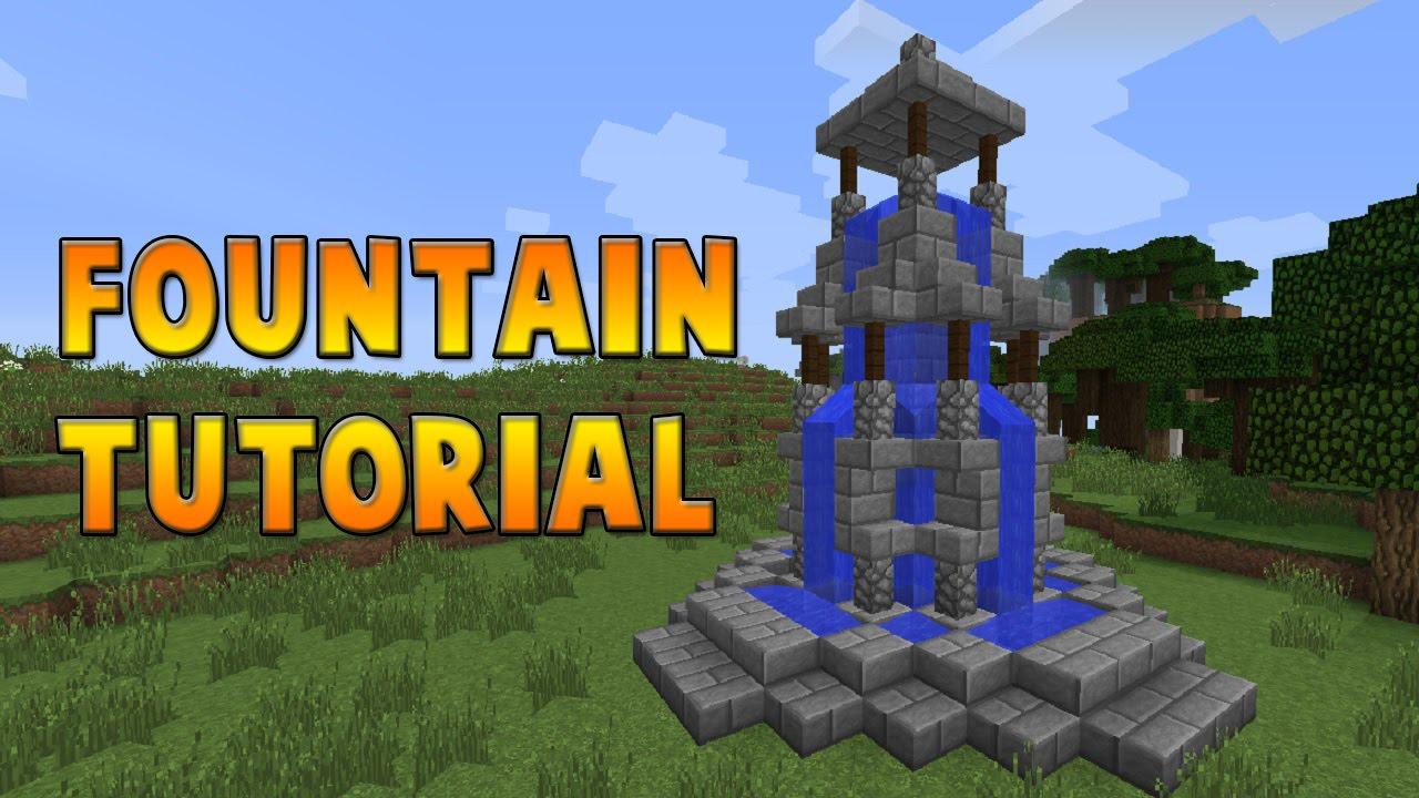 Minecraft : Fountain Tutorial - YouTube