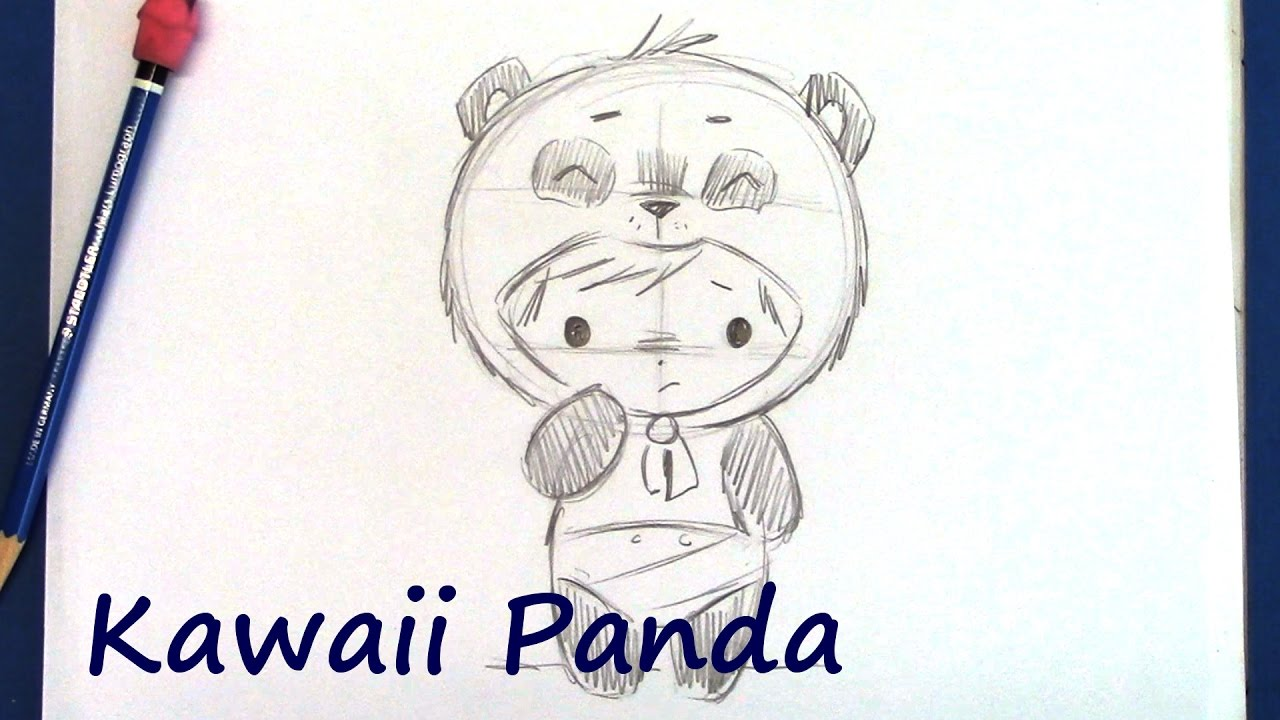 How To Draw A Manga Panda Bear Step By Step For Beginners