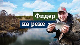 Фидерная рыбалка на реке весной 2021