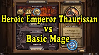 Hearthstone: Blackrock Mountain - Heroic Emperor Thaurassian with a Basic Priest Deck