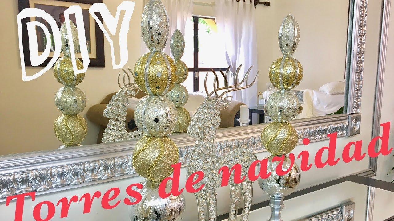 Torres elegantes de navidad decoracion navide a youtube - Adornos navidenos elegantes ...