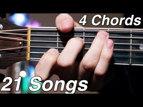 4 Chord Songs Mashup! (21 Popular Songs!)