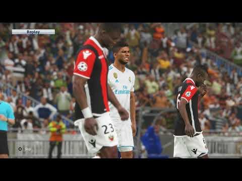 Real Madrid - OGC Nice   PES 2018   Champions League