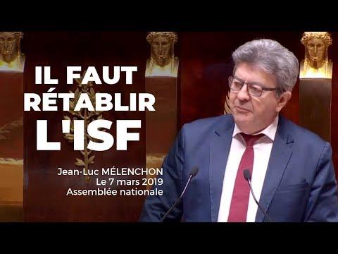 IL FAUT RÉTABLIR L'ISF - Mélenchon