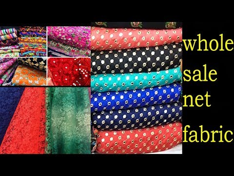 WHOLESALE NET FABRIC- MADURAI SHOPPING HAUL-ALL TYPE OF FABR