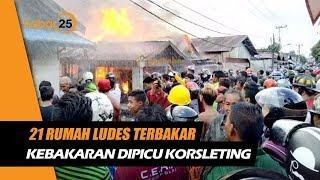 21 Rumah Ludes Kebakaran Hebat Di Alalak Dipicu Korsleting