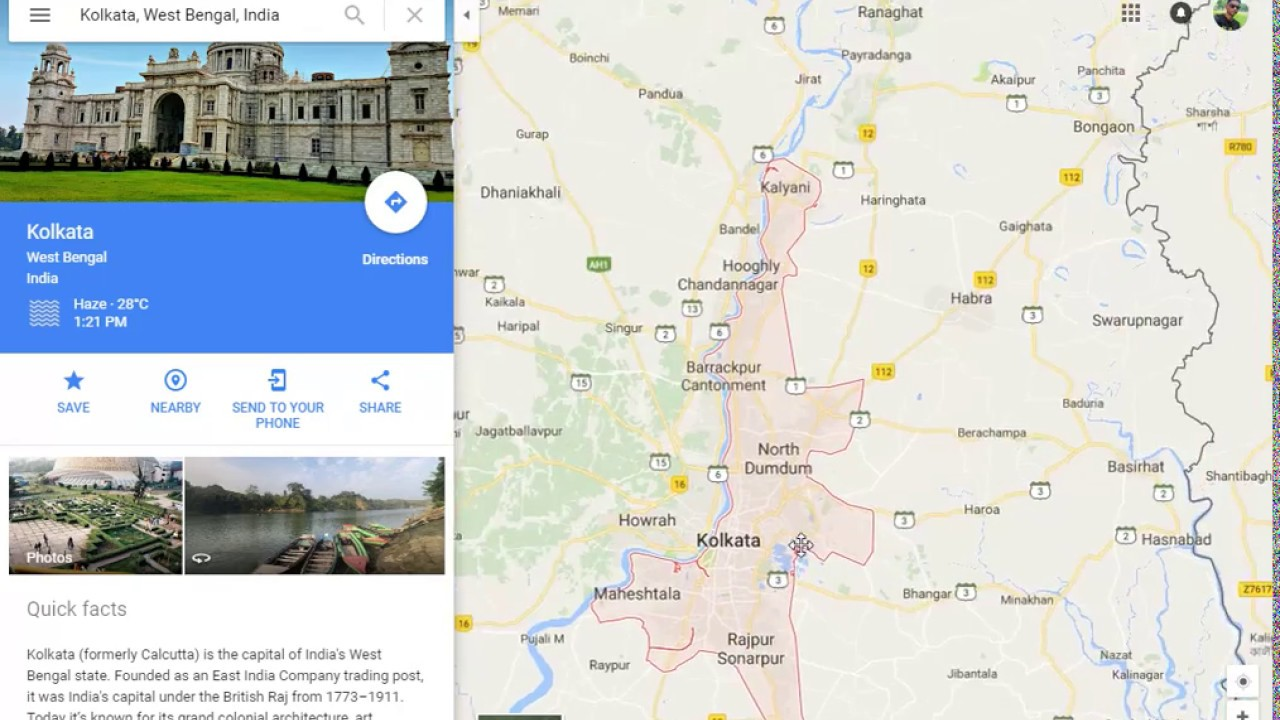08. Map of kolkata, India - YouTube Calcutta India Map on
