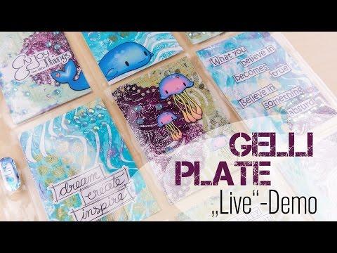 [VLOG   Let's Craft] Gelli Plate + Pocket Letter in #Überlänge   DEUTSCH