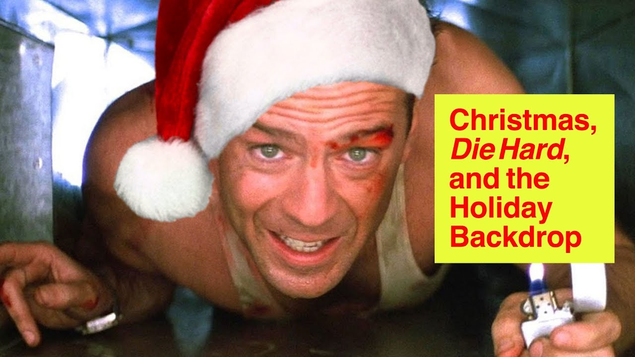 die hard christmas and the holiday backdrop