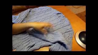 Как связать мужской джемпер         How to tie men's cardigan or pullover