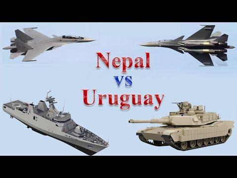 Nepal vs Uruguay Military Comparison 2017