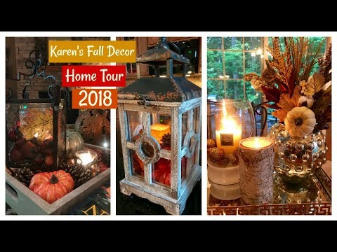 Karen's Fall/Autumn Decor Home Tour 2018 | Fall Home & Lifestyle | The2Orchids