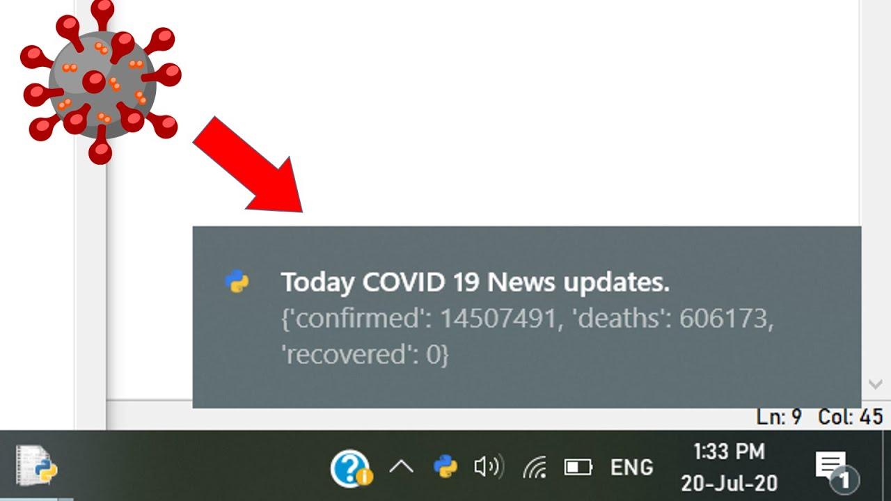 | Covid-19 News Desktop Notifier using Python | | AK |