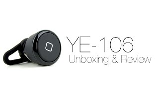 Affordable Bluetooth Headset: YE-106 Bluetooth Headset Unboxing & Review - For $10!