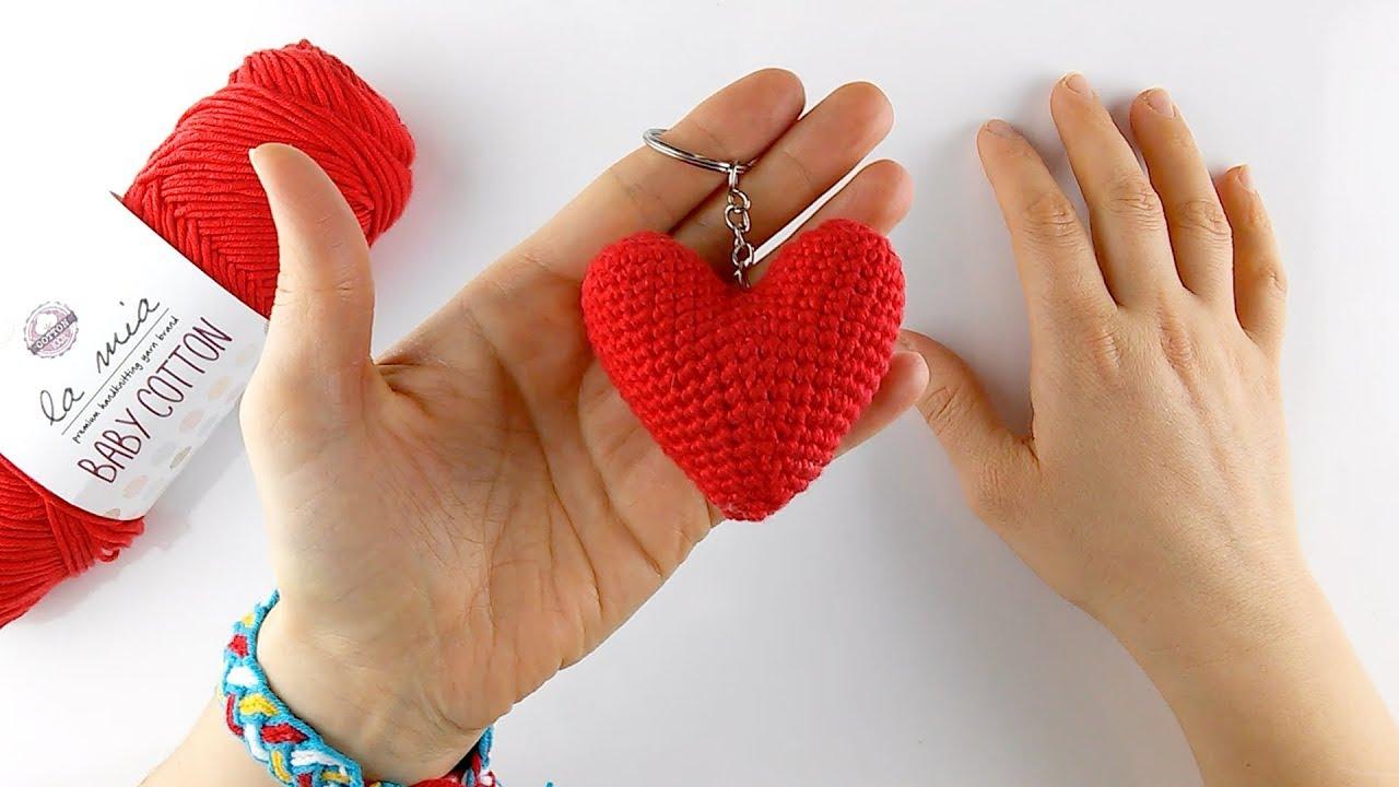 Tığ işi amigurumi kalp yapılışı/Örgü Modelleri - YouTube | 720x1280