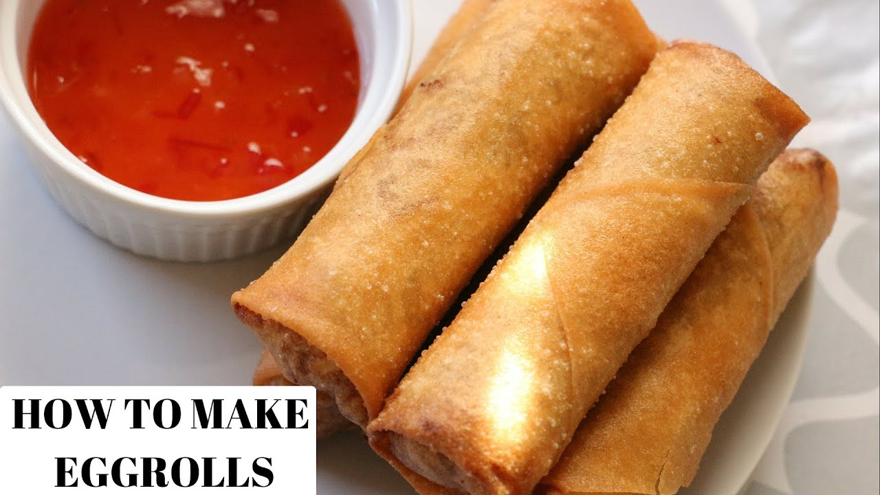 EGG ROLL RECIPE - HOW TO MAKE EGG ROLLS - 123vid