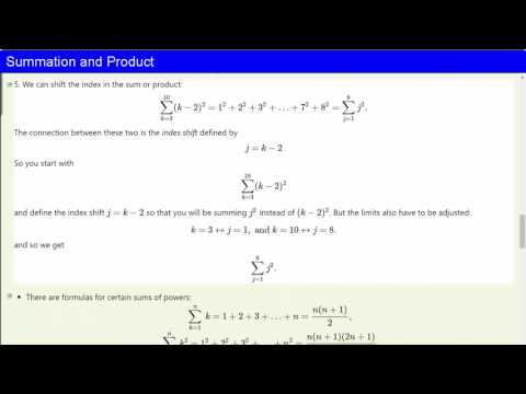 Summation and Product