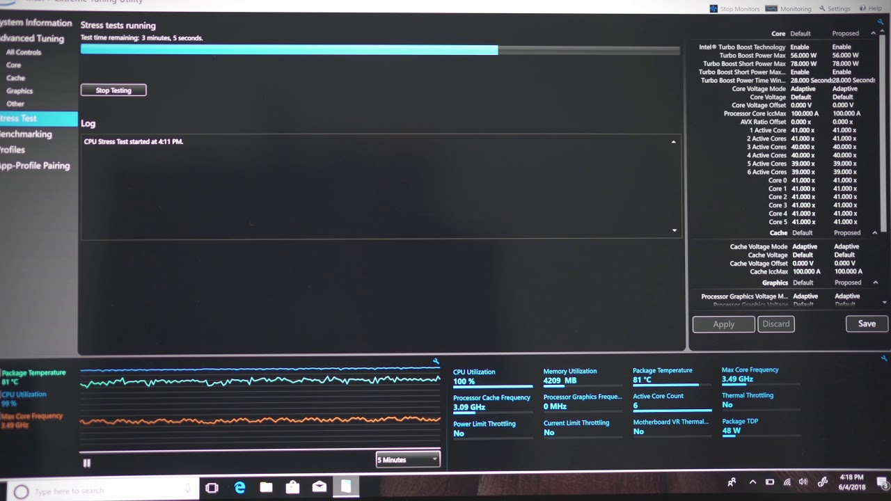 Dell XPS 15 9570 Stress Test i7