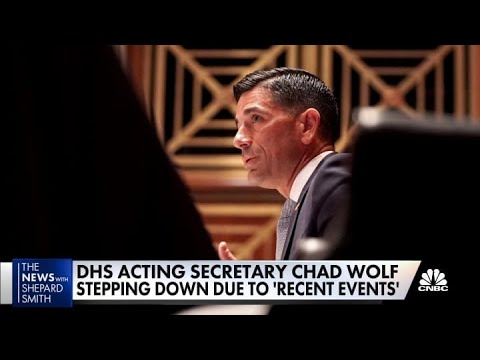 Trump and Pence meet, acting DHS Secretary Chad Wolf steppin