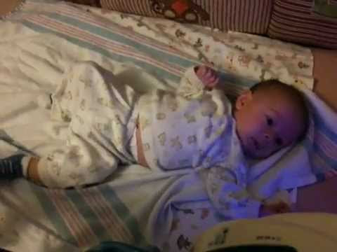Baby Bradley Christian Dancing To Fisher Price Rainforest Waterfall Crib Soother Toy & Pom-Pom.